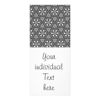 Black and White Pattern 03 Personalized Rack Card