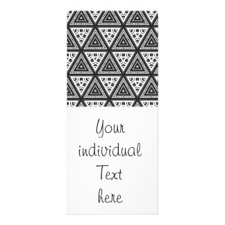 Black and White Pattern 04 Custom Rack Cards