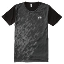 black and white pattern biking All-Over-Print T-Shirt