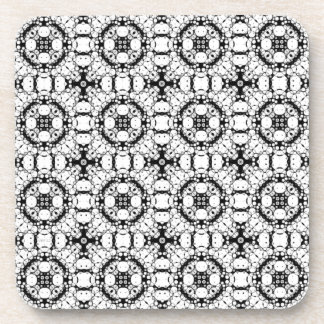 Black And White Pattern Coaster