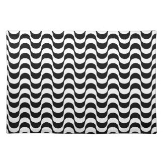 black and white pattern, copacabana placemat