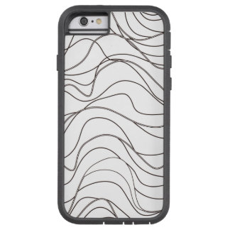 black and white pattern doodles tough xtreme iPhone 6 case