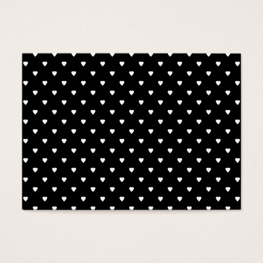 Black and White Pattern - Hearts. Custom Business Card