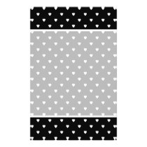 Black and White Pattern - Hearts. Custom Flyer