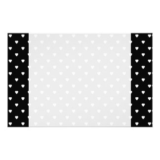 Black and White Pattern - Hearts. Custom Stationery