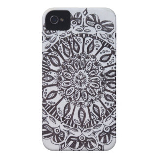 Black and White Pattern iPhone 4 Case
