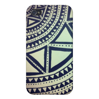 Black and white pattern iPhone 4 cover