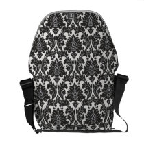 Black And White Pattern Messenger Bag