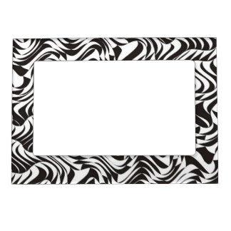Black and White Pattern - Picture Magnetic Frame