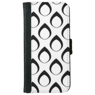 Black and White Pattern iPhone 6 Wallet Case