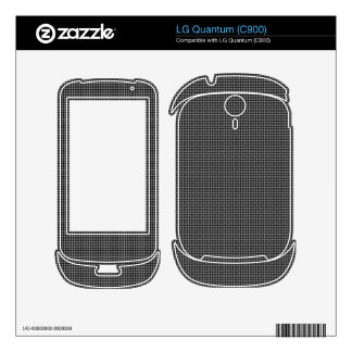 black and white pattern skin for the LG quantum
