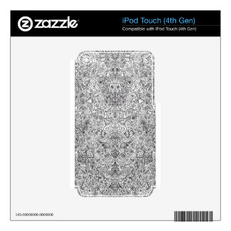 black and white pattern iPod touch 4G decal