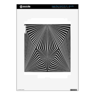 Black and White Pattern Straight Line  Design Decal For iPad 3