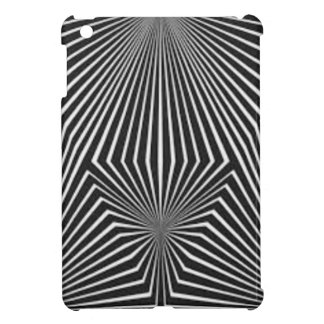 Black and White Pattern Straight Line  Design iPad Mini Cover