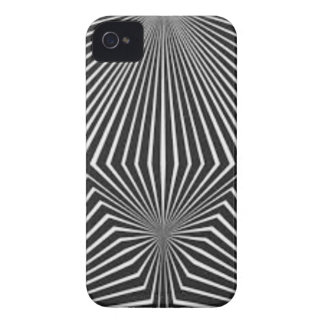 Black and White Pattern Straight Line  Design iPhone 4 Cover