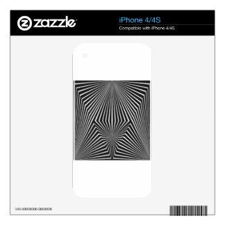 Black and White Pattern Straight Line  Design iPhone 4S Decals