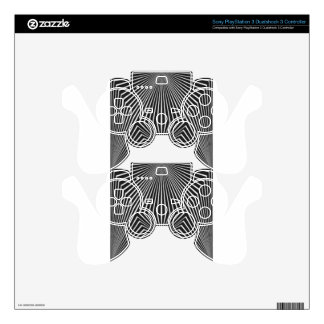 Black and White Pattern Straight Line  Design PS3 Controller Decals
