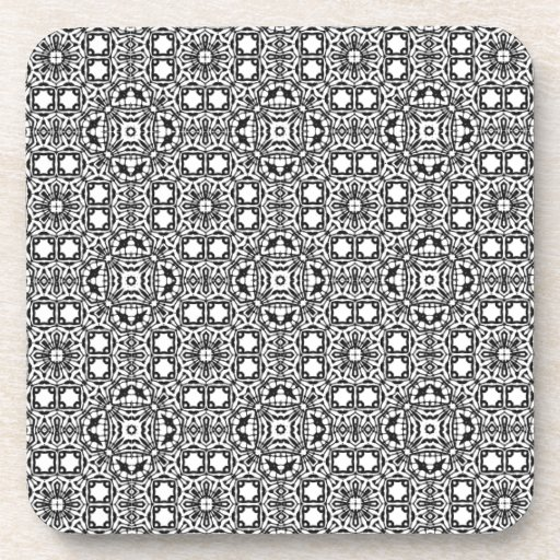 black and white decor black and white pattern templates drink coaster zazzle 11740