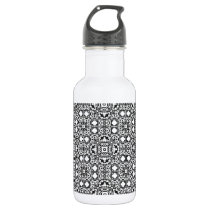 Black and White Pattern Templates Water Bottle