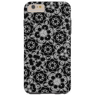 Black and White pattern Tough iPhone 6 Plus Case