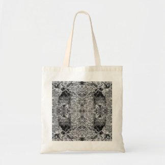Black and White Pattern Trees and Stone Bag