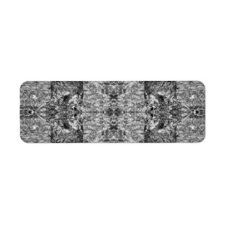 Black and White Pattern. Trees and Stone. Return Address Labels