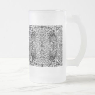 Black and White Pattern. Trees and Stone. Coffee Mugs