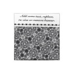 Black and White Patterned Cloth Napkin with Banner