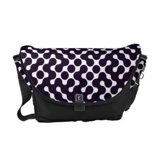 Black and White Patterned Messenger Bag
