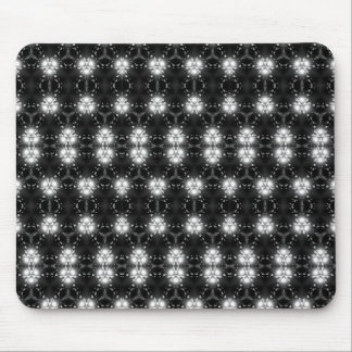 Black and white patterned mousepad