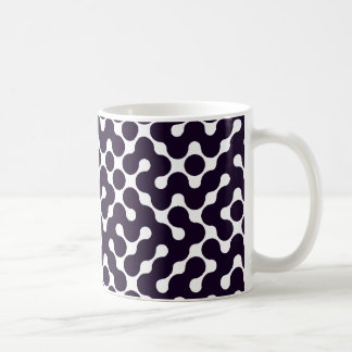 Black and White Patterned Coffee Mugs