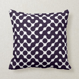 Black and White Patterned Throw Pillow