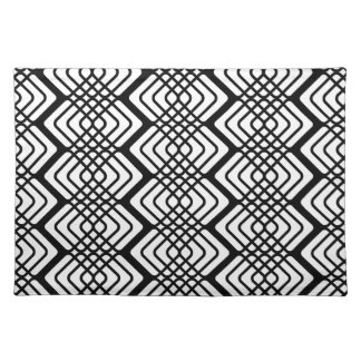 Black and White Patterned Placemat Cloth Place Mat