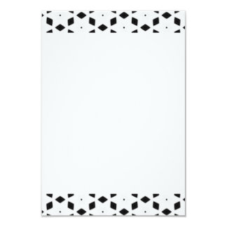 Black and White Patterns | Diamonds and Stars II Card