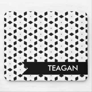 Black and White Patterns | Diamonds and Stars II Mouse Pad