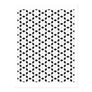 Black and White Patterns | Diamonds and Stars II Postcard