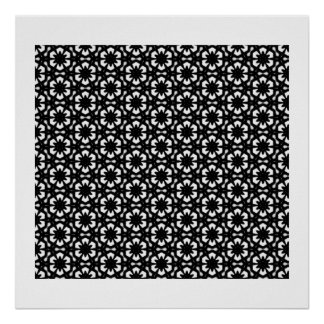Black and White Patterns | Hexagons II Poster