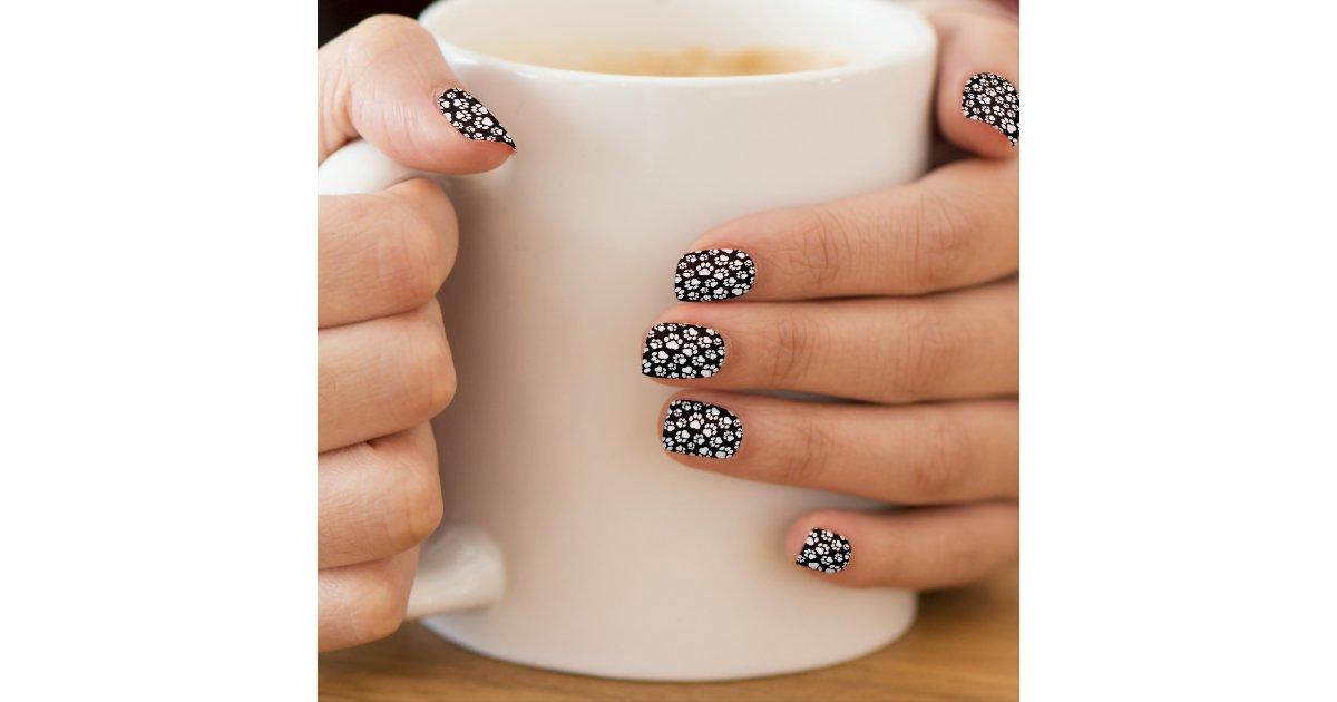 - Black-and-White Paw Print Nail Art Zazzle.com