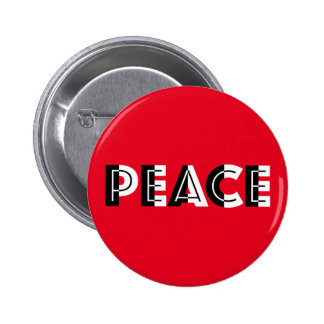 Black and White Peace Pinback Button