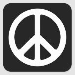 Black and White Peace Sign Stickers