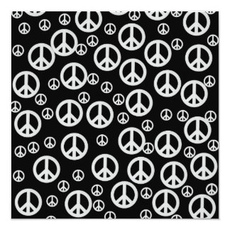 Black and White Peace Signs Card