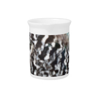 Black And White Peafowl Feathers Drink Pitchers
