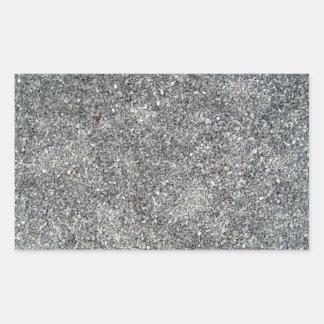 Black and white pebbles stone background rectangular sticker