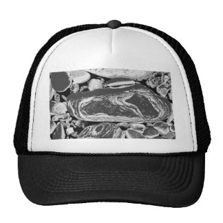 Black and White Pebbles Trucker Hat