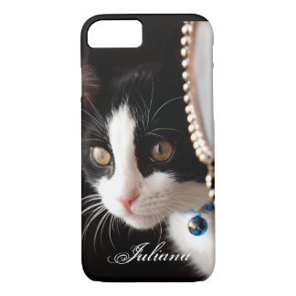 Black and White Peek a Boo Cat iPhone 7 case