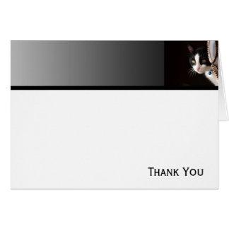 Black and White Peekaboo Cat Card