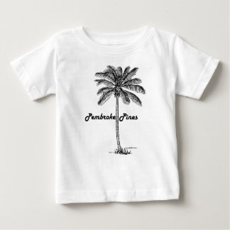 Black and White Pembroke Pines & Palm design Baby T-Shirt