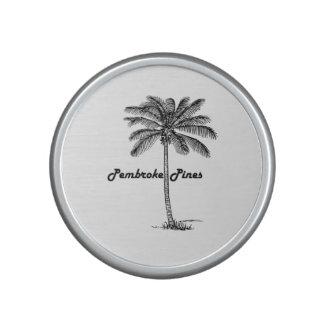 Black and White Pembroke Pines & Palm design Bluetooth Speaker