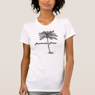 Black and White Pembroke Pines & Palm design T-Shirt