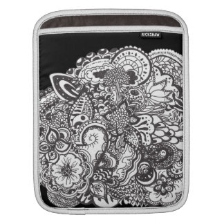Black and White Pen and ink art ipad cover iPad Sleeves